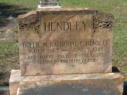 Dollie Maynard Katherine E. <i>Maynard</i> Hendley