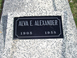 Alva Emmit Alexander