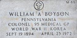 Col William A. Boyson