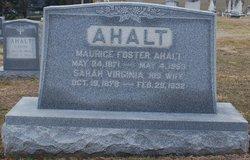 Sarah Virginia Jennie <i>Shank</i> Ahalt
