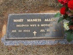 Mary <i>Maness</i> Allen