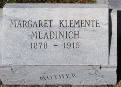 Margareta Klemente Clementine <i>Bonasic</i> Mladinich