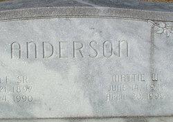 Mattie <i>Williams</i> Anderson