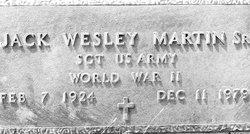 Sgt Jack Wesley Martin, Sr