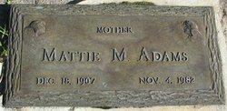 Mattie M Adams
