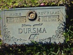 Rev. Klaas Dursma