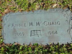 Annie M. <i>Orton</i> McCuaig