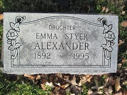 Emma <i>Styer</i> Alexander