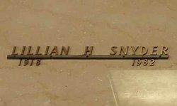 Lillian H Snyder
