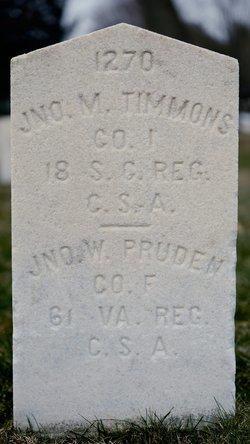Pvt John W Pruden