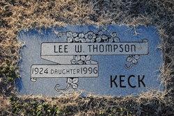 Lee W. <i>Thompson</i> Keck