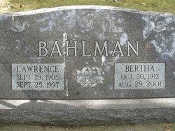 Bertha Bahlman