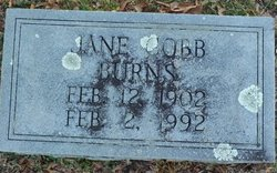 Jane <i>Cobb</i> Burns