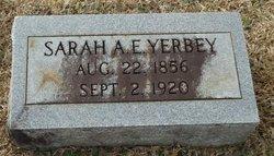 Sarah A.E. Yerbey