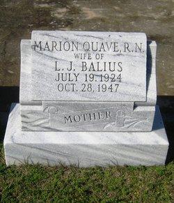 Marion Rita <i>Quave</i> Balius