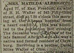 Matilda E. <i>Walter</i> Albright
