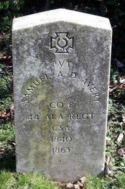 Pvt Samuel A. Delmaster Avery