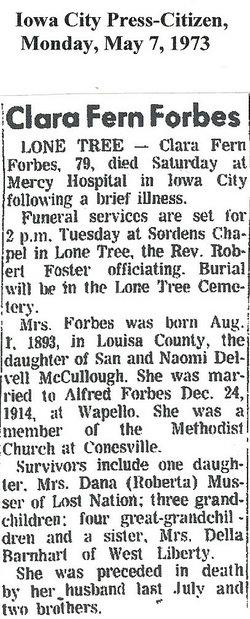 Clara Fern <i>McCullough</i> Forbes