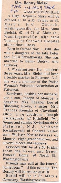 Anna <i>Kwiatkowski</i> Bielski
