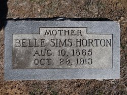 Belle <i>Sims</i> Horton