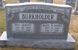 Mary Rebecca <i>Rodes</i> Burkholder