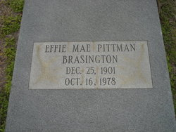 Effie Mae <i>Pittman</i> Brasington