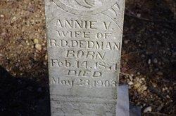 Annie V <i>Hawkins</i> Dedman