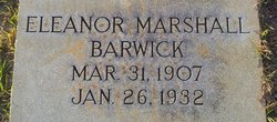 Eleanor <i>Marshall</i> Barwick