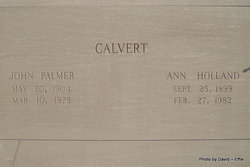 Ann <i>Holland</i> Calvert