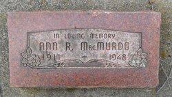Ann Ruth <i>Wylett</i> MacMurdo