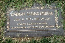Rosemary <i>Garman</i> Freiburg