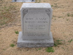 Mary Jean <i>Martin</i> Brown