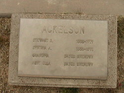 Synthia A Ackelson