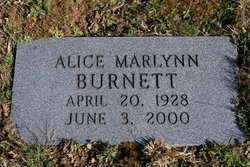 Alice Marilyn Burnett