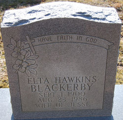 Elta <i>Hawkins</i> Blackerby
