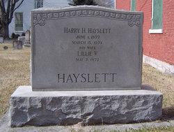 Lillie Virginia <i>Watson</i> Hayslett