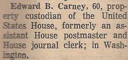Edward B Carney