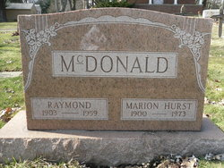 Ida Marion <i>Hurst</i> McDonald