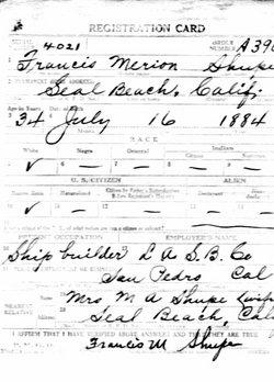 Francis Merion Shupe