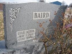 Lula <i>Acton</i> Baird