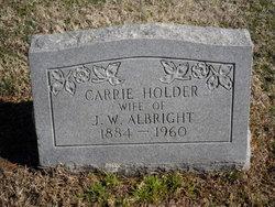 Carrie <i>Holder</i> Albright
