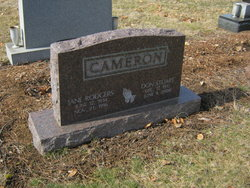 Jane <i>Rodgers</i> Cameron