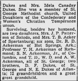 Mary R. <i>Dukes</i> Ackerman