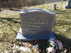 Priscilla <i>Miles</i> Alexander