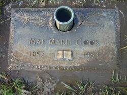 Mae Marie Granny <i>Carter</i> Cook