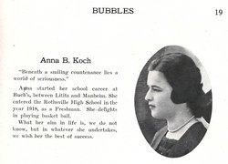 Anna <i>Koch</i> Birkenbine