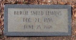 Burlie Elizabeth <i>Sneed</i> Lemons
