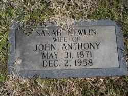Sarah Frances <i>Newlin</i> Anthony