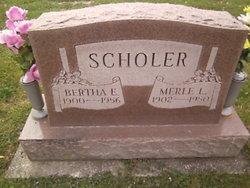 Bertha Elnora <i>Beeler</i> Scholer