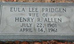 Eula Lee <i>Pridgen</i> Allen